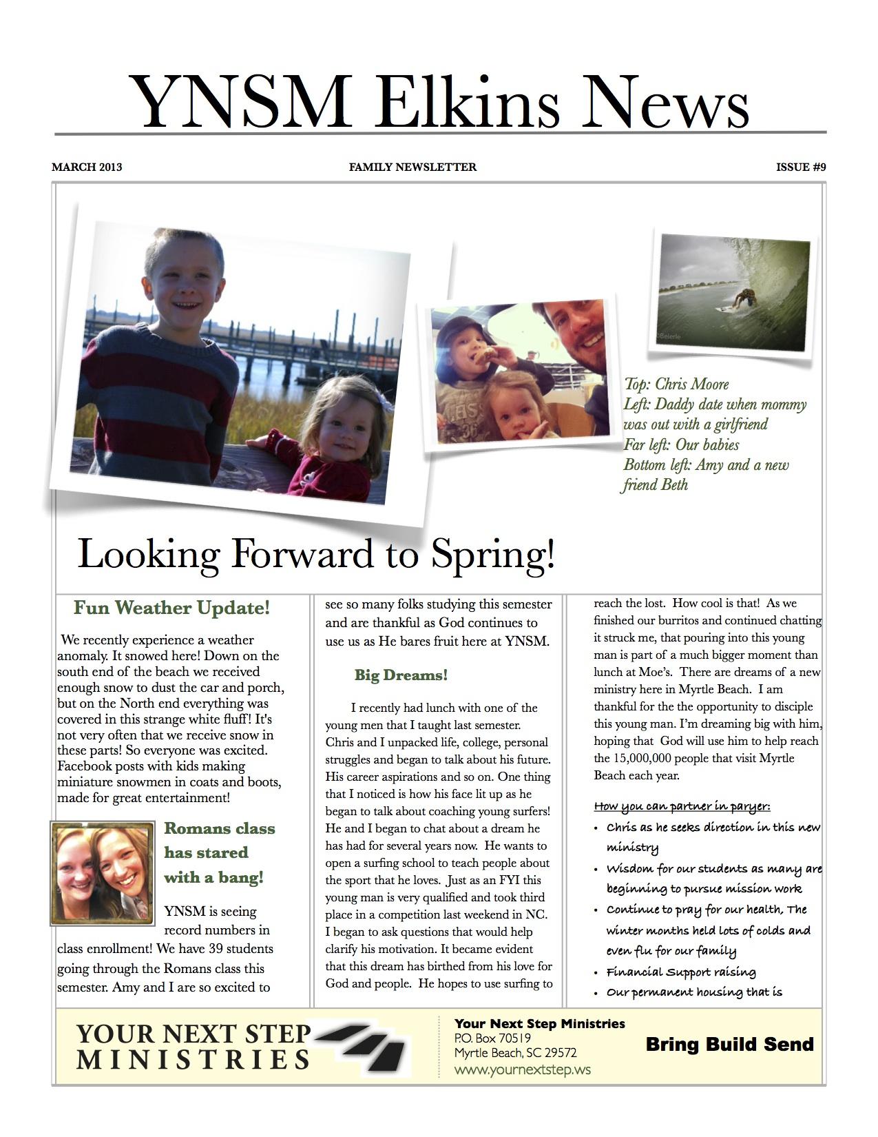 march newsletter elkins